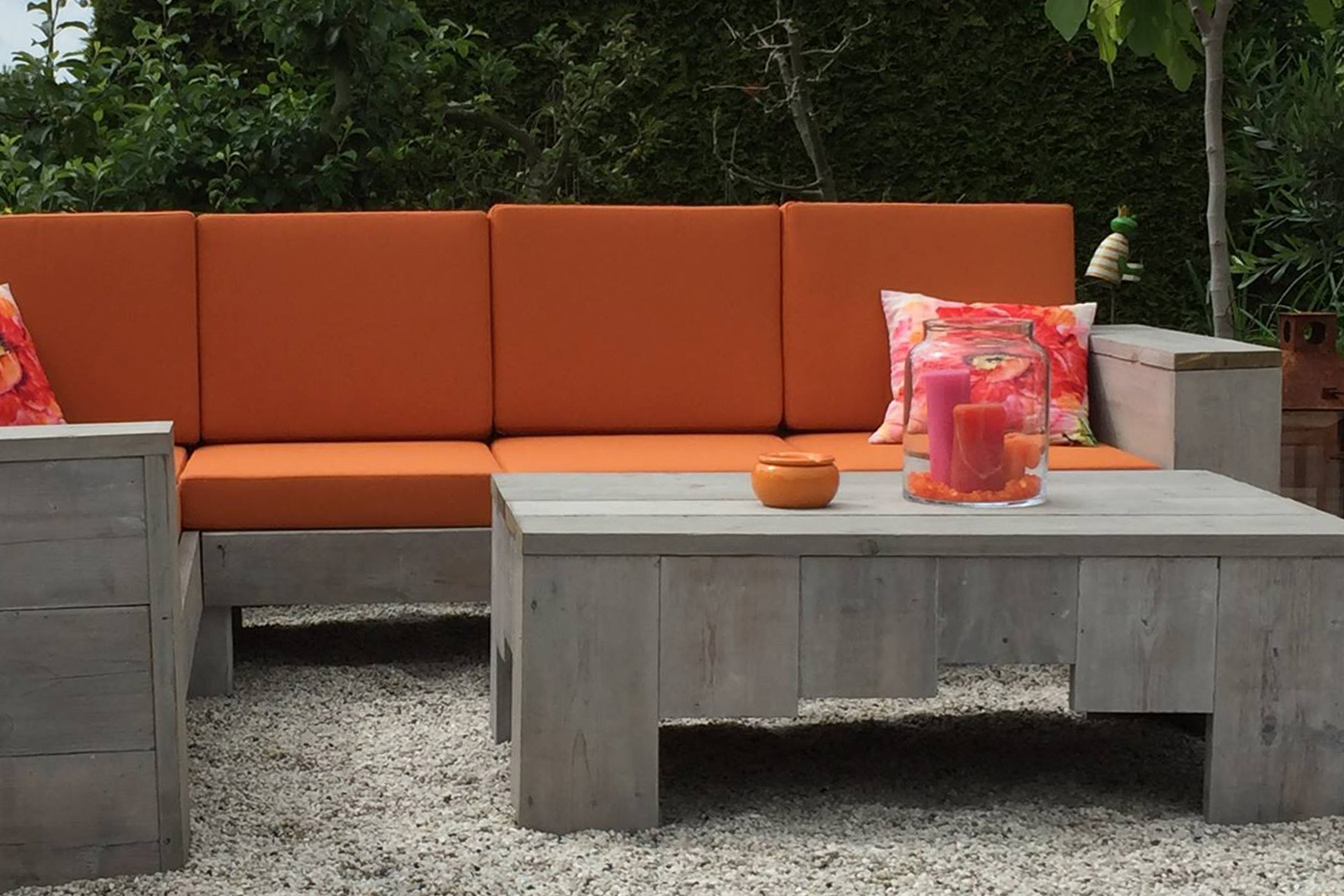 Lounge Kombination in orange